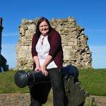 The cannon at Scarborough Castle