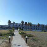 Droga z plaży do hotelu