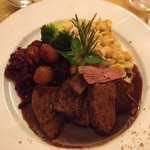 Deer filet with roasted chestnuts