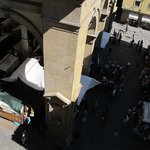 An afternoon at the market, viewed from the Botticelli room.
