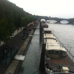River Rhone near hotel