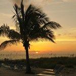 sunset from the resort beach