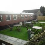 Trainspotters beer garden!