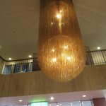 The entrance chandelier