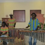 Marimba night next to the restaurant