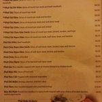 Pho menu