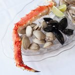 A wide selection of fresh shellfish