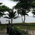 View of beach from verandah