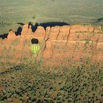 The balloon passed close by incredible Sedona area formations.