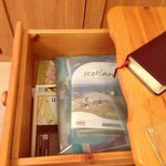 Annette and Bob are so thoughtful! Every Scotland guidebook imaginable was in this drawer.