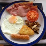 A Scottish cooked breakfast. Yum!