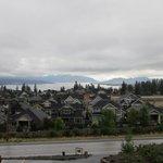 Uitzicht Okanagan Lakevieuw B&B bij slecht weer.