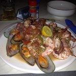 Seafood platter yum!