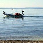 Sabah ilk is masmavi denize atladik