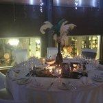 Great Gatsby 21st celebration overlooking wine vats