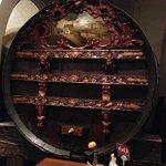 huge wine barrels