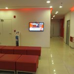 waiting area with interactive tv