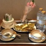 Tea and coffee service at the request