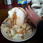 Toffee meringue, half eaten :D