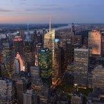 Vue de nuit sur NYC