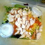 House Salad topped with Rotisserie Chicken