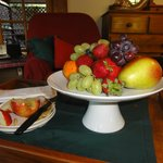 The fruit platter in our room