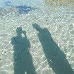 l'eau transparente de la plage