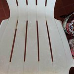 Dirty chair in the balcony