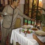 Cena en el riad