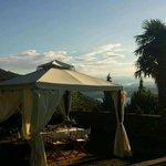 Breakfast on the terrace at Casa Mariuccia