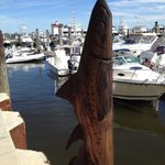hand carved pilings