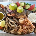 Sea-food plate for two, only 36 Euros