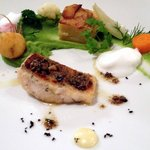 5 Roasted pike-perch fillet with spinach puree