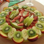 Delicious, refreshing fruit salad - beautiful on a hot greek summers day