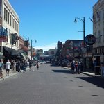 Looking down Beale