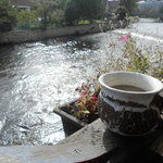 morning coffee by the river