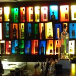 Very colourful bar.