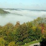 vue de la ch. vallée, matin brumeux