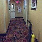 Corredor para os quartos