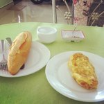 Breakfast made just for me by Mrs. Vit @Cam Chau Homestay