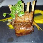 Lamb Chop with Foie Gras Au Jus