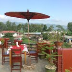 Rooftop breakfast @Inle Star Motel
