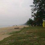 Clean beach.