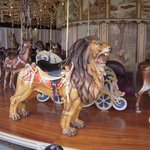 Lion at Kit Carson Fairgrounds Carousel