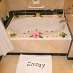 Our Tub decorated by our Butler
