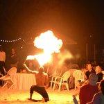 Junkanoo party on Sandals Caye