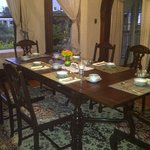 Beautiful antique dining room.