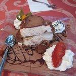 Dejlig dessert i nærtliggende restaurant.