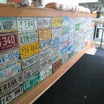license plate display - random, but cool