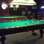 while having the best pizza in town,enjoy watching a good game of pool